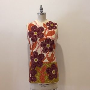 🍇VINTAGE top with stunning psychedelic print 🍊